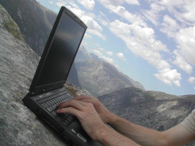 S notebookom na horách